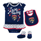 Florida Panthers Infant 2-PC Love Hockey Bodysuit