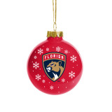 Florida Panthers Holiday Glass Ball Ornament