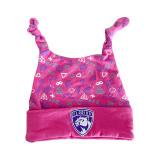 Florida Panthers Infant Pattern Pink Frill Knit Cap