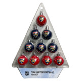 Florida Panthers Holiday 10 Pack Ball Ornament Set