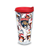 Florida Panthers Holiday Penguins 24 oz Tumbler