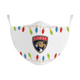 Florida Panthers Holiday Lights Face Covering