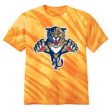 Florida Panthers Retro Gold Tie-Dye Shirt