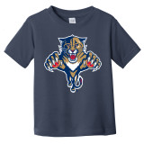 Florida Panthers Toddler Retro Navy Shirt