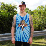 Florida Panthers Retro Royal Tie-Dye Tank