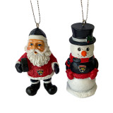 Florida Panthers St. Nick & Snowman Ornament 2 Pack