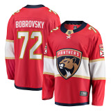 Florida Panthers #72 Sergei Bobrovsky Breakaway Home Replica Jersey