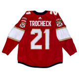 Florida Panthers Vincent Trocheck Game Used Home Jersey - Set 2