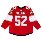 Florida Panthers Mackenzie Weegar Game Used Home Jersey - Set 1