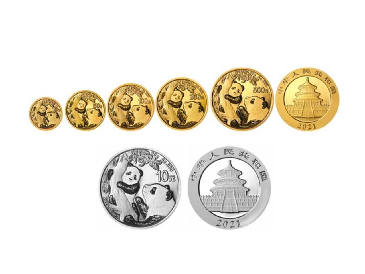 China 2021 Panda Gold and Silver Coins!