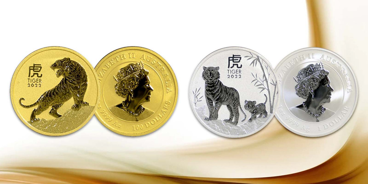 2022 Australia Year of the Tiger 1 oz Gold & Silver Series III