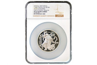 China 1989 Zhao Gongming 3.3 oz Silver Medal - God of War and Wealth - NGC PF-67 Ultra Cameo