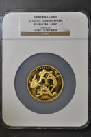 China 2008 Beijing Olympic Games 5 oz Gold Proof Coin - Series III - Modern Sports NGC PF-69 Ultra Cameo