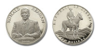Liberia 2001 President Ronald Reagan dollar10 Brilliant Uncirculated Coin