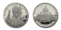Liberia 2001 Pope John Paul II and St Peters dollar10 Coin Brilliant Uncirculated