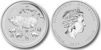 Australia 2019 Year of Pig 1 oz Silver BU Coin - Series II