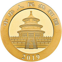China 2019 Panda 30 Gram Gold BU Coin