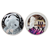 China 2019 Panda Singapore International Coin Fair SICF - 1 oz Silver Proof Commemorative