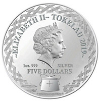 Tokelau 2019 Year of the Pig 1 oz Silver Mirror Proof Coin