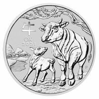 Australia 2021 Year of the Ox 1 oz Silver BU Coin - Series III