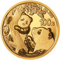 China 2021 Panda Gold 8 grams BU Coin