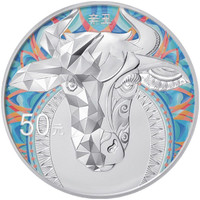 China 2021 Year of the Ox 150 grams Silver Proof Coin - Colorized
