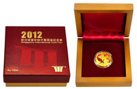 China 2012 Panda - Singapore International Coin Fair - 1/2 oz Gold Proof Medal