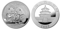 China 2009 Panda 1 oz Silver BU Coin