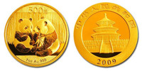 China 2009 Panda 1 oz Gold BU Coin