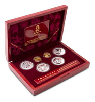 China 2008 Beijing Olympic Games Gold and Silver 6-pc Coin - Series III