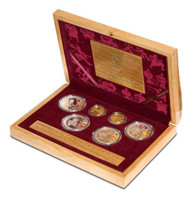China 2008 Beijing Olympic Games Gold and Silver 6-Coin Set - Series I