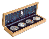 China 2008 Beijing Olympic Games Silver 4-Coin Set - Series I