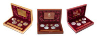 China 2008 Beijing Olympic Games Complete 18-Coin Gold and Silver Set - Series I, II, and III