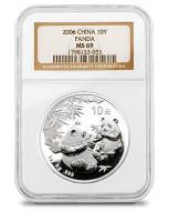 China 2006 Panda 1 oz Silver Coin - NGC MS-69