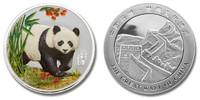 China Panda Colorized Silver Plated