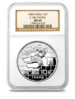 China 1989 Panda 1 oz Silver Coin - NGC MS-69