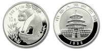 China 1993 Panda 1 oz Silver BU Coin
