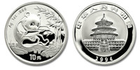 China 1994 Panda 1 oz Silver BU Coin