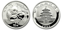 China 1994 Panda 1 oz Silver BU Coin