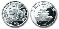 China 1997 Panda 1 oz Silver BU Coin