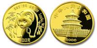 China 1986 Panda 1 oz Gold BU Coin