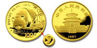 China 1987-Y Panda 1 oz Gold BU Coin