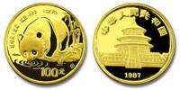 China 1987-S Panda 1 oz Gold BU Coin