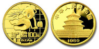 China 1989 Panda 1 oz Gold BU Coin