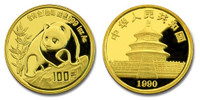 China 1990 Panda 1 oz Gold BU Coin