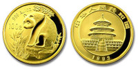 China 1993 Panda 1 oz Gold BU Coin