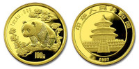 China 1997 Panda 1 oz Gold BU Coin