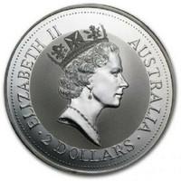 Australia 1992 Kookaburra 2 oz Silver BU