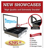 Tempered Glass Display Showcase for Trade Shows and More