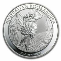 Australia 2014 Kookaburra 1 oz Silver BU